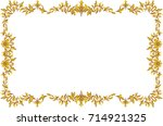 decorative line art frames for... | Shutterstock .eps vector #714921325