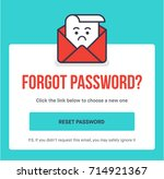 forgot password. flat style...