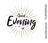 good evening   fireworks  ... | Shutterstock .eps vector #714930454