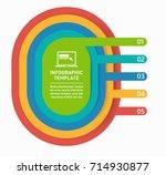 vector banner with 5 options ... | Shutterstock .eps vector #714930877