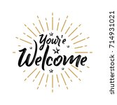 your'e welcome   fireworks  ... | Shutterstock .eps vector #714931021