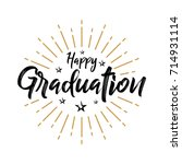 happy graduation   fireworks  ... | Shutterstock .eps vector #714931114