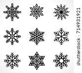 set of snowflakes | Shutterstock .eps vector #714931921