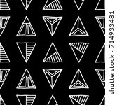 seamless  pattern. black and... | Shutterstock . vector #714933481