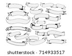 vintage banners set   set of... | Shutterstock .eps vector #714933517