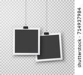 picture frames with shadow... | Shutterstock .eps vector #714937984