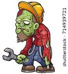 vector illustration of cartoon... | Shutterstock .eps vector #714939721
