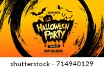 halloween party. vector... | Shutterstock .eps vector #714940129