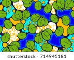 textile fashion african print... | Shutterstock .eps vector #714945181