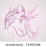 beauty woman | Shutterstock .eps vector #71495188