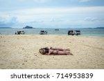 krabi  thailand   jun 20  2016. ... | Shutterstock . vector #714953839