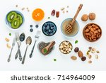 ingredients for a healthy foods ... | Shutterstock . vector #714964009