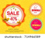 vector illustration of diwali... | Shutterstock .eps vector #714966589