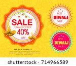 vector illustration of diwali...   Shutterstock .eps vector #714966589