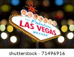 welcome to las vegas sign with... | Shutterstock . vector #71496916