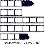 set of film stripes  photo... | Shutterstock .eps vector #714970189