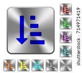 ascending ordered list mode... | Shutterstock .eps vector #714971419