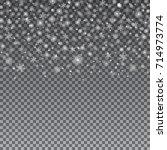 falling snow vector pattern....   Shutterstock .eps vector #714973774