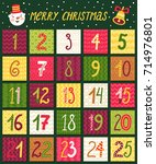 vector advent calendar.... | Shutterstock .eps vector #714976801