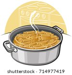illustration of boiled spaghetti | Shutterstock . vector #714977419