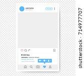 social network photo frame....   Shutterstock .eps vector #714977707