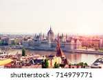 aerial view of budapest... | Shutterstock . vector #714979771