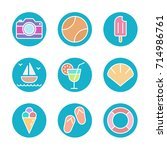 travel   vacation icon set | Shutterstock .eps vector #714986761