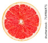red grapefruit slice  clipping... | Shutterstock . vector #714986971