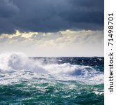 High Sea Wave During Storm At ...