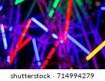colorful lamp on ferris wheel... | Shutterstock . vector #714994279