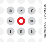 set of 8 architecture icons set.... | Shutterstock .eps vector #714995155