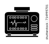 cardiograph icon | Shutterstock .eps vector #714995701