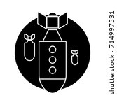 rocket bomb icon | Shutterstock .eps vector #714997531