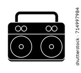boombox icon | Shutterstock .eps vector #714997984