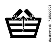 arrow up shopping basket icon | Shutterstock .eps vector #715000705