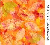 an autumn vector background... | Shutterstock .eps vector #715001107