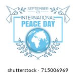 international peace.... | Shutterstock .eps vector #715006969