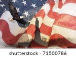 American Flag  Flying Bald...
