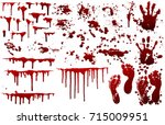 collection various blood or... | Shutterstock .eps vector #715009951