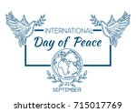 international day of peace... | Shutterstock .eps vector #715017769