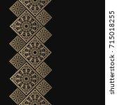golden frame in oriental style. ... | Shutterstock .eps vector #715018255