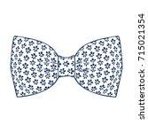 bow tie. navy peony color.... | Shutterstock .eps vector #715021354