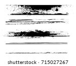 grunge paint stripe . vector... | Shutterstock .eps vector #715027267