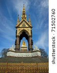 albert memorial  london  uk.