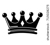regal crown icon . simple...