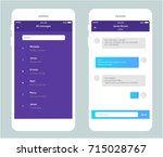 vector phone chat interface.... | Shutterstock .eps vector #715028767