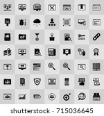 seo and online marketing icons... | Shutterstock .eps vector #715036645