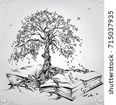 tree of knowledge | Shutterstock .eps vector #715037935