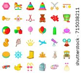 pyramid icons set. cartoon... | Shutterstock .eps vector #715038211
