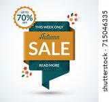 autumn sale banner. discount... | Shutterstock .eps vector #715046335